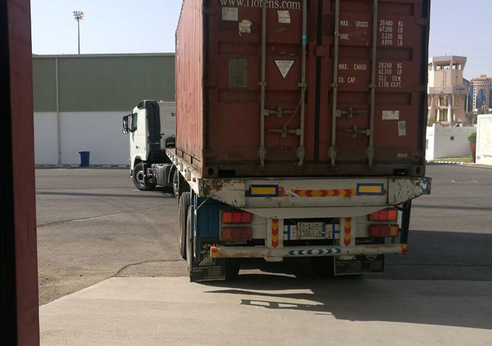 استيراد مسند ظهر وجوارب لضيوف الرحمن من ميناء نينجبو في شنغهاي